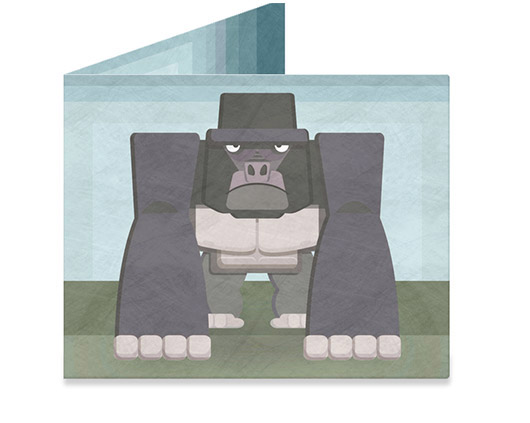 Mighty Wallet Angry Gorilla