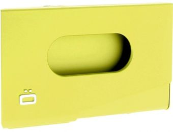 Ogon Business Card Holder ONE TOUCH Green Lime