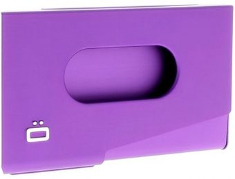 Ogon Business Card Holder ONE TOUCH Purple