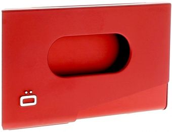 Ogon Business Card Holder ONE TOUCH Red