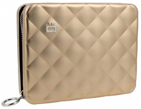 Ögon Quilted Passport Wallet Rose Gold