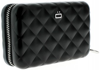 Ögon Card Case - Quilted Zipper Black