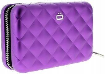 Ögon Card Case - Quilted Zipper Purple