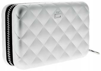 Ögon Card Case - Quilted Zipper Silver